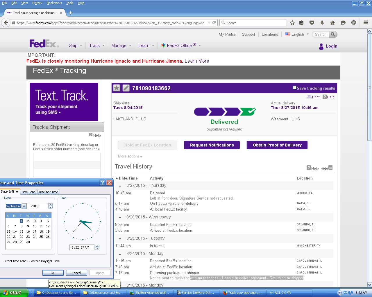Index of /MortgageFraud-Court-Filings/Mon03Aug2015-FedEx-and-USPS