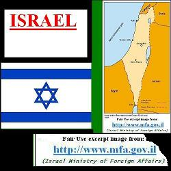 Israel's Flag & Map